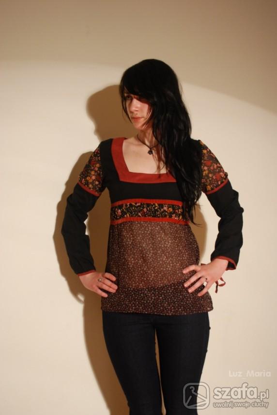 Śliczna bluzka indie boho hippie