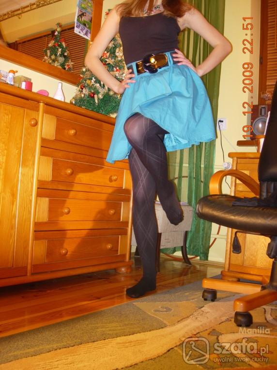 Imprezowe Seledynowa spódnica