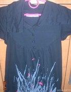 Czarna bluzka ze wzorkami...