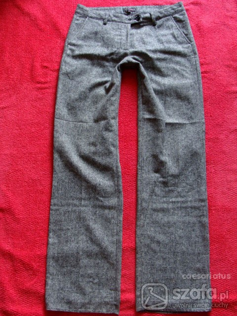 Ciepłe spodnie na zimę melanż rozm 40 42