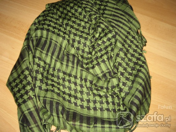 Chusty i apaszki klasyczna zielono czarna arafatka