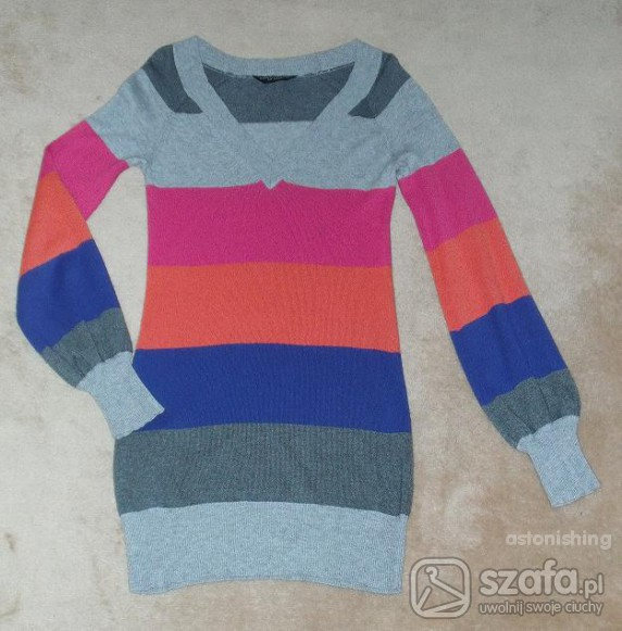 Swetry SWETER TUNIKA CENA Z WYSYŁKĄ XS