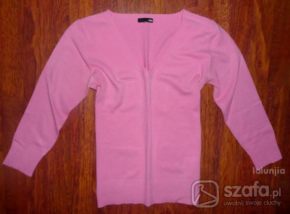 Swetry Różowy Sweterek w Serek HM