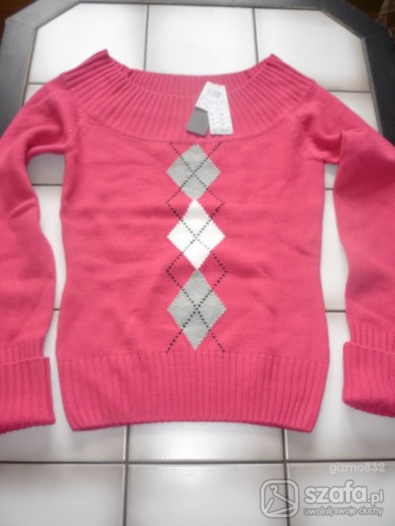 Swetry nowy różowy M