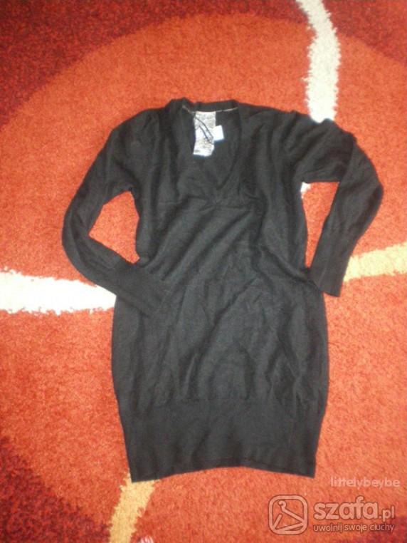 Swetry czarny sweter LONG River Island