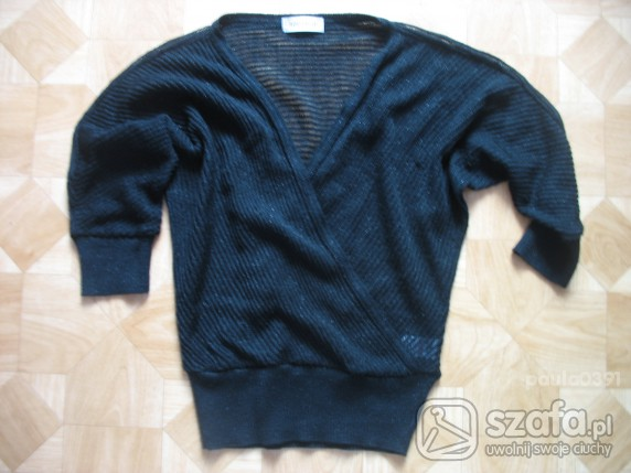 Swetry extra TOPSHOP sweterek kopertowy nietoperkowaty