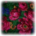 Góralskazielona chusta w kwiaty