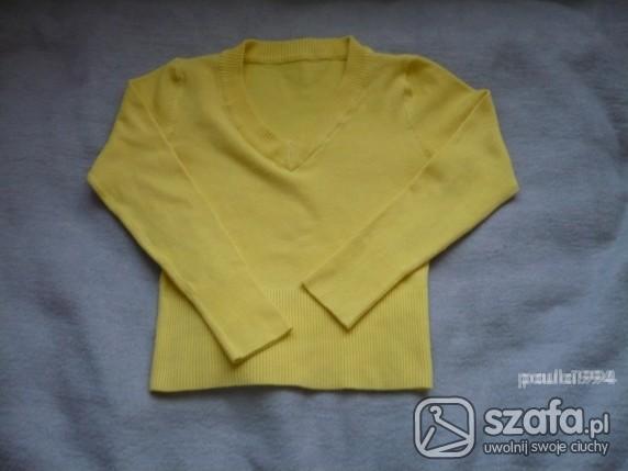 Swetry Żółty sweterek S