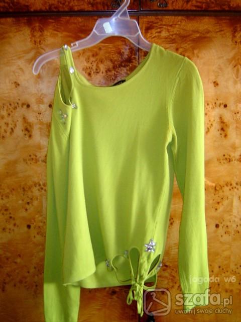 Swetry ZielonyWiosenny Sweter