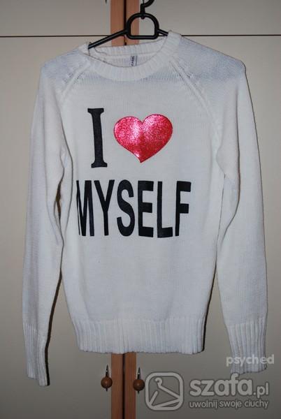 Swetry sweter z serduszkiem