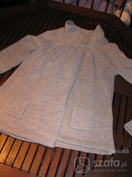 Swetry szary sweterek grzybek