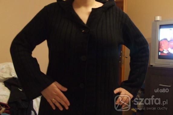 Swetry sweter czarny z kapturem XL XXL