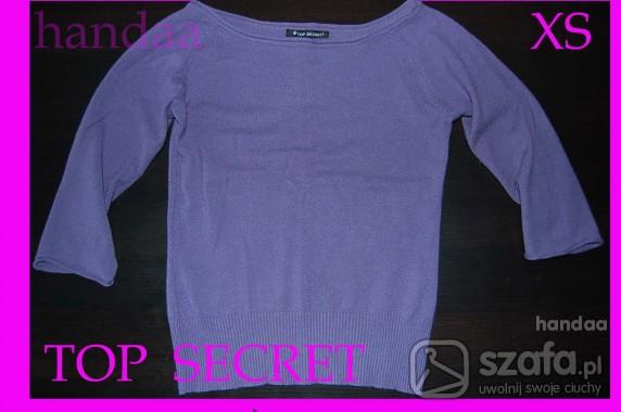 Swetry cieńki sweterek top secret S fiolet