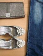 srebrny zestawik