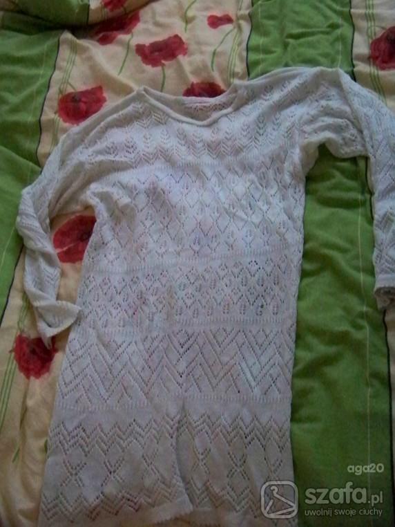 Swetry sweterk ażurowe ecri