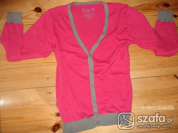 Swetry Różowy Kardigan