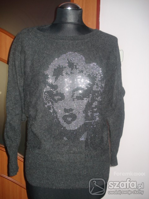 Swetry Sweter tunika z Marilyn Monroe