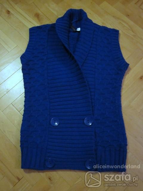 Swetry Piękna kobaltowa kamizelka HM
