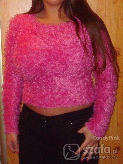 Swetry Różowy puchaty sweterek