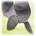 mała apaszka zebra 50x50cm