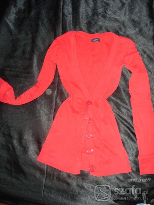 Swetry czarwony kardigan