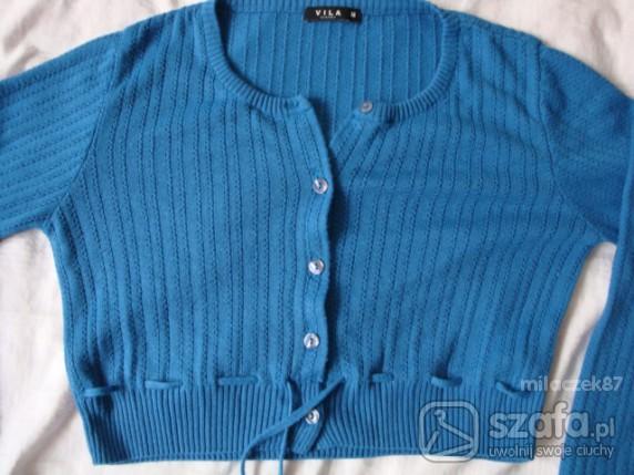 Swetry Niebieski krótki sweterek