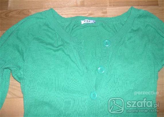 Swetry Vila zielony długi kardigan