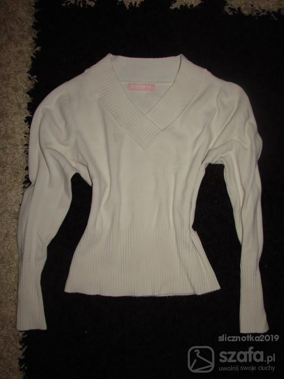 Swetry Kremowy Sweterek S
