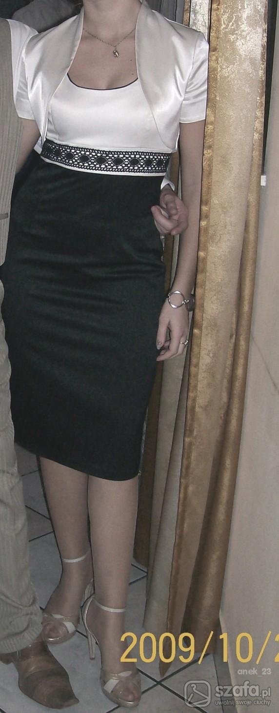 Eleganckie czarno kremowa