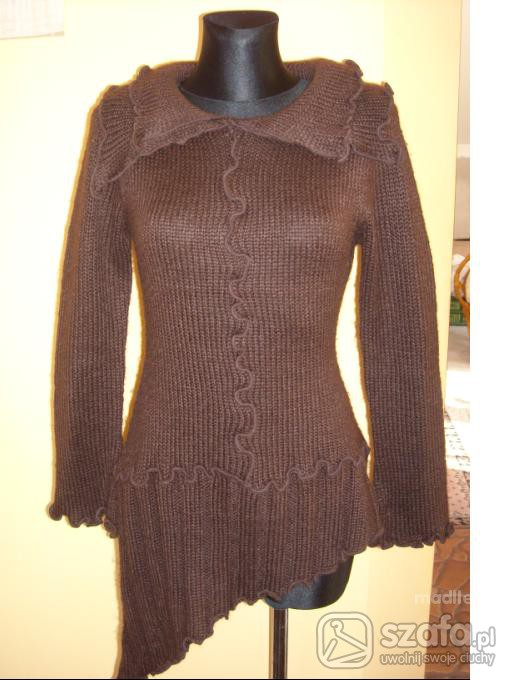Swetry TUNIKA SWETEREK BRĄZ UNIWERSALNY