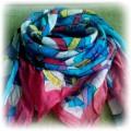 kolorowa chusta apaszka na wiosnę japan style