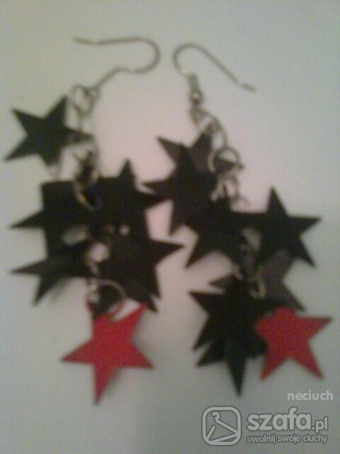 kolczyki gwiazdki...