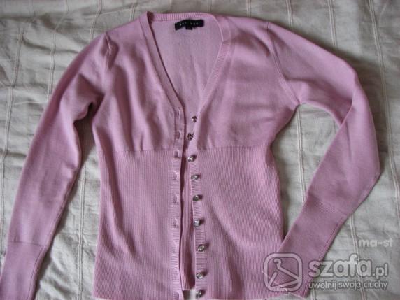 Swetry Rozpinany blado różowy