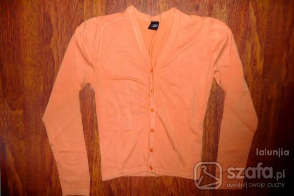 Swetry Pomarańczowy Kardigan