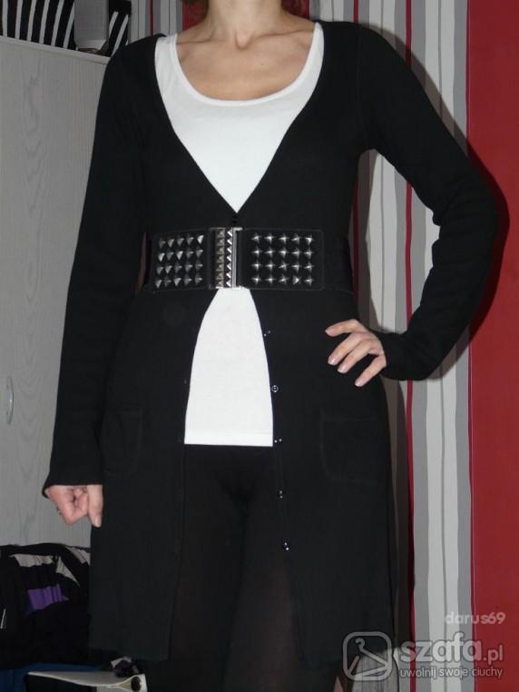 Swetry tanio LONG czarny