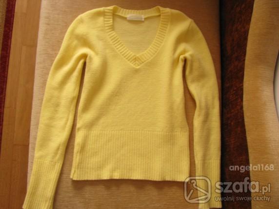 Swetry żółty sweterek