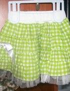 Zielona spódniczka z kokardą