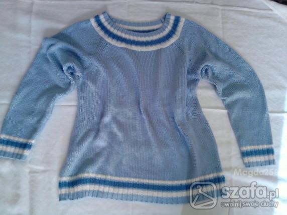 Swetry HARMONY COLLECTION XL PIĘKNY NIEBIESKI SWETEREK