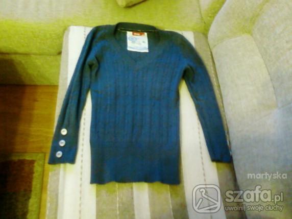 Swetry niebieski sweterek deep S
