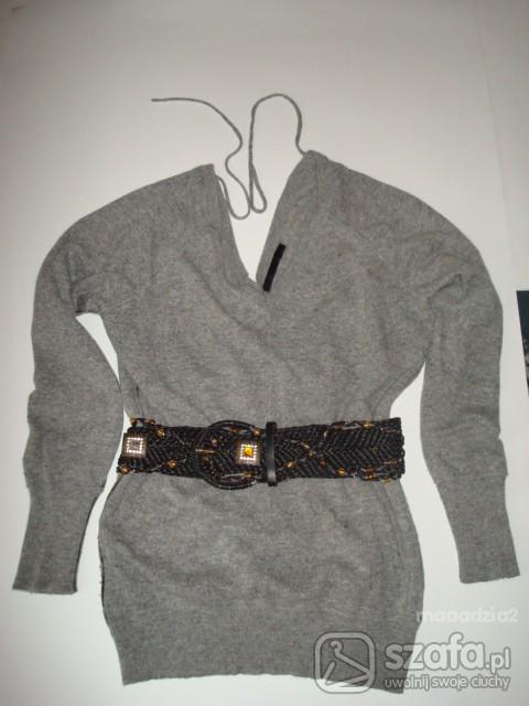 Swetry Szary długi sweterek River Island cena z przesyłką