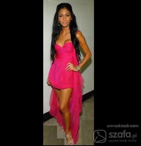 Eleganckie Różowa sukienka