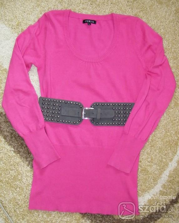 Swetry Różowy sweterek L