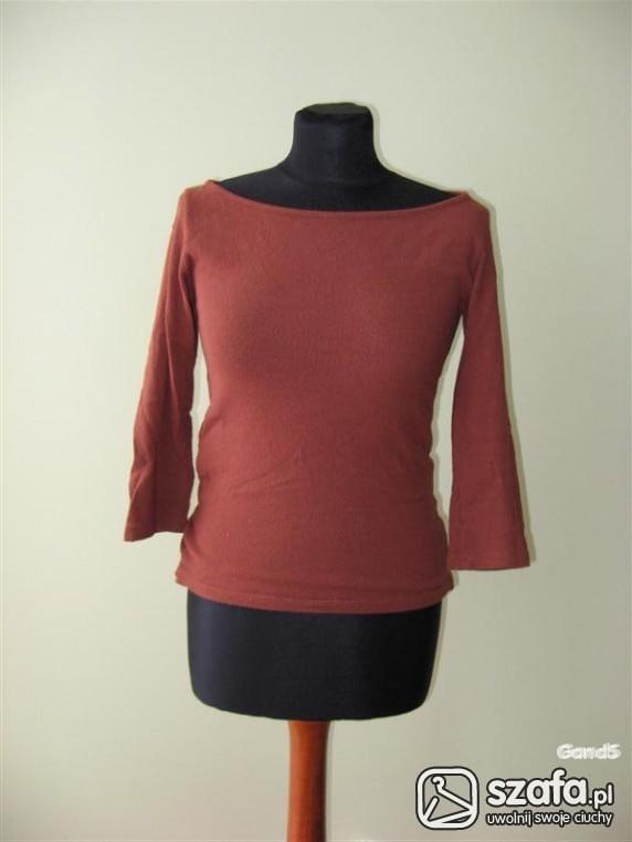 Swetry sliczny brązowy sweterek zara S M