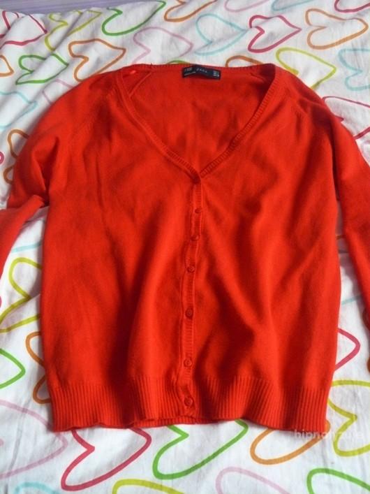 Swetry Nowy ZARA kardigan czerwony M L