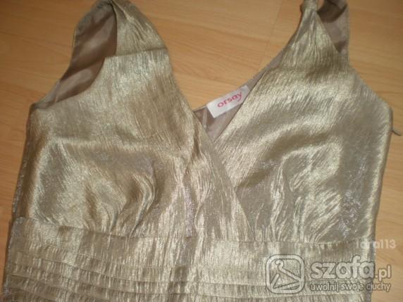 Suknie i sukienki ZŁOTA SUKIENKA ORSAY