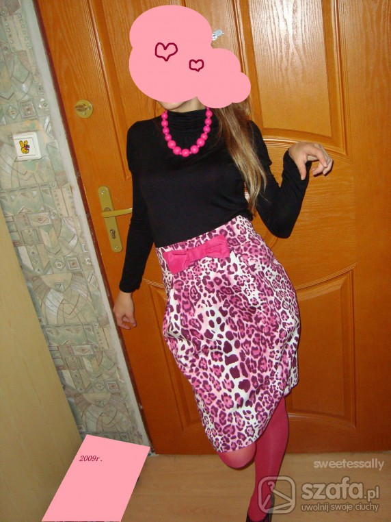 Mój styl Różowa Panterka Ołówkowa kokarda centki pantera