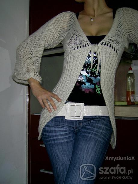 Swetry oBJECT dlugi wiazany sweterek