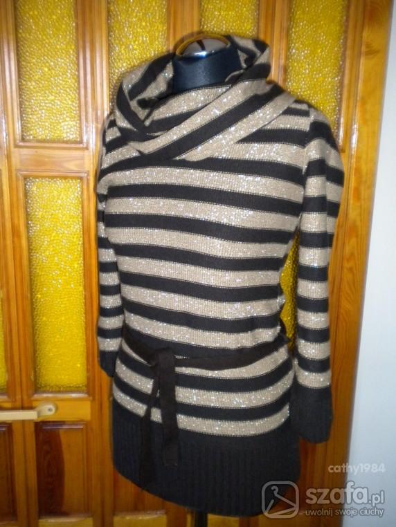 Swetry Sweterek z golfem
