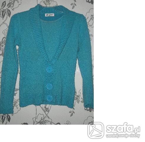 Swetry Niebieski Sweterek Rozmiar 38