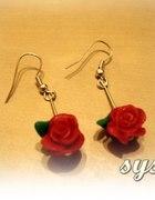 Kolczyki Handmade Czerwone Róże
